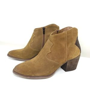 Marc Fisher Stefani Western Ankle Suede Boots -9.5